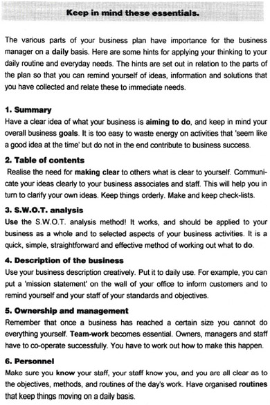 Business Plan Peter Fisher Co - Two page business plan template